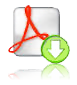 Adobe Acrobat icon with download icon (arrow facing down) superimposed - link to adult intake form
